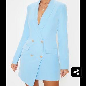 PrettyLittleThing Dresses - Pretty little thing baby blue blazer dress